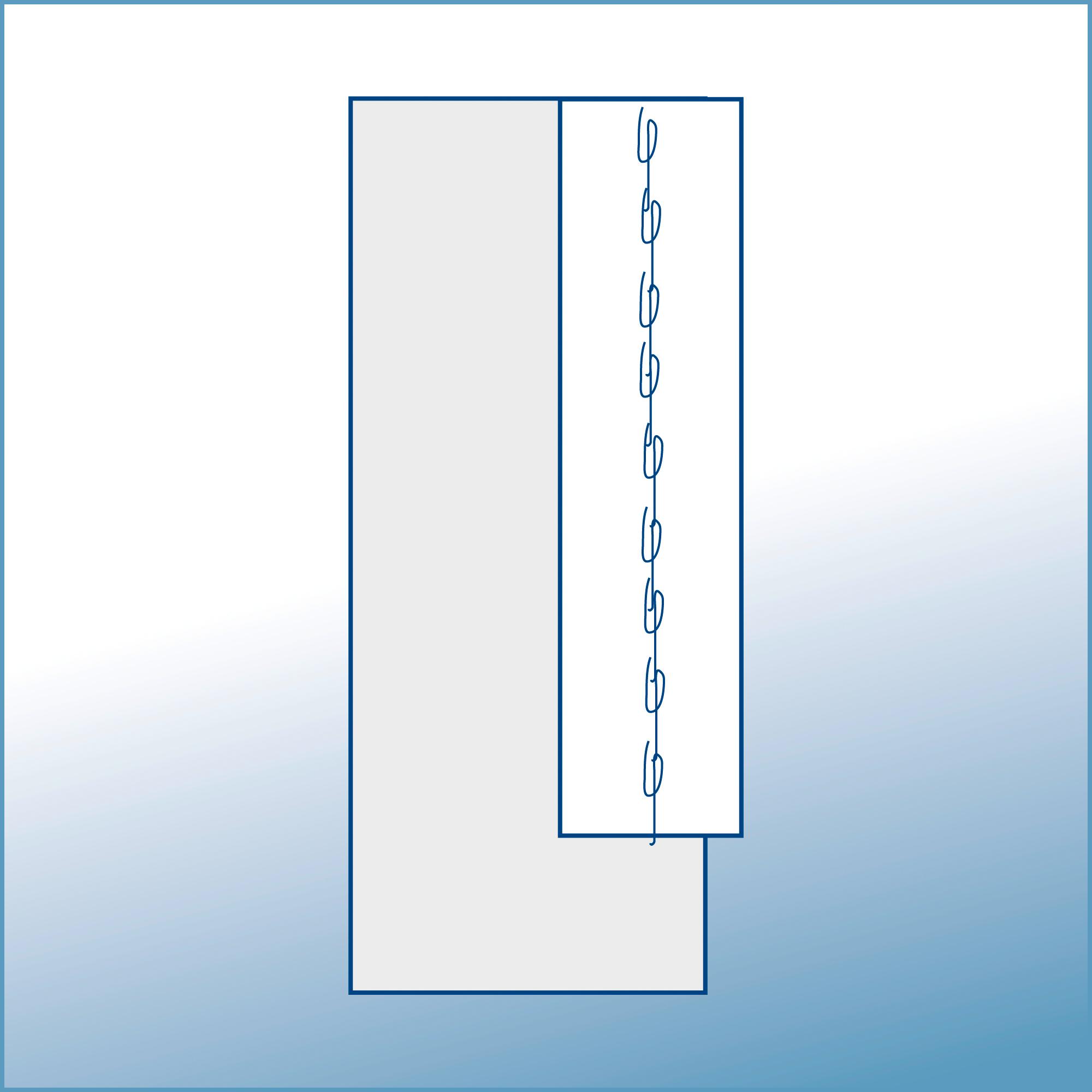 CE 6025 | SEWN TAPE | Steel grey | 75 mm